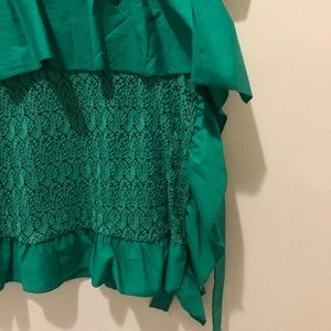 Zara Tops - Zara Green Lace T-Shirt